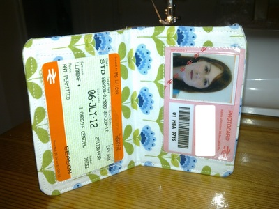 How to make a card carrier. Travel Pass - Step 12