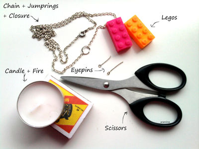 How to make a Lego necklace. Lego Block Necklace - Step 1
