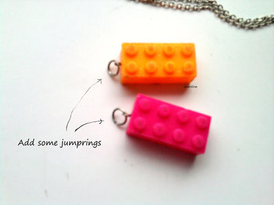 How to make a Lego necklace. Lego Block Necklace - Step 8