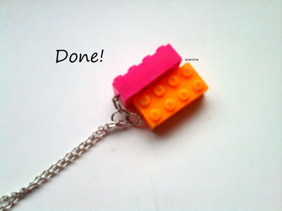 How to make a Lego necklace. Lego Block Necklace - Step 10