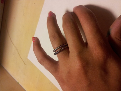 How to make a beaded ring. Adjustable Ring(: - Step 5