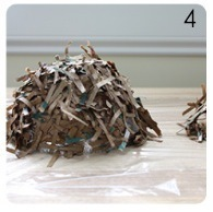 How to make a paper model. Brown Bag Bird's Nest - Step 4