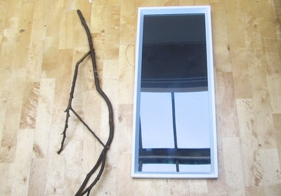 How to make a jewelry frame. Branch Jewellery Frame - Step 1