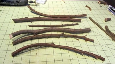 How to make a jewelry frame. Branch Jewellery Frame - Step 4
