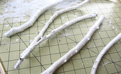 How to make a jewelry frame. Branch Jewellery Frame - Step 5
