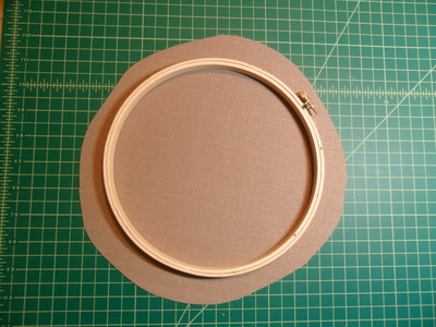 How to make a recycled clock. Embroidery Hoop Clock - Step 1
