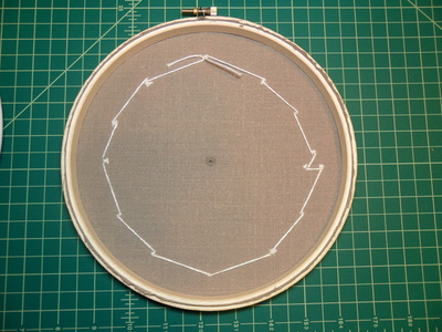 How to make a recycled clock. Embroidery Hoop Clock - Step 5