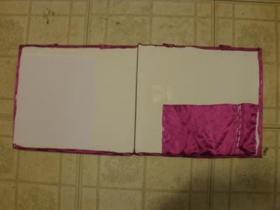 How to make a binder folder. Portable Art Folder - Step 4