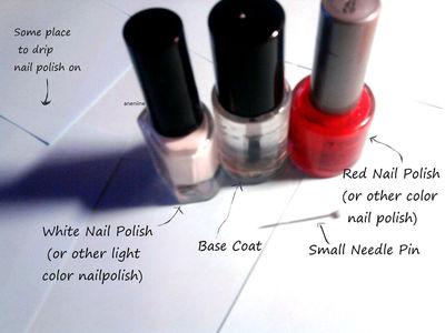 How to paint patterned nail art. Polka Dot Nails - Step 1