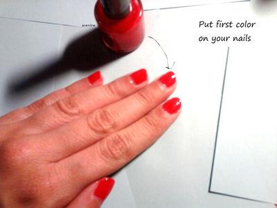 How to paint patterned nail art. Polka Dot Nails - Step 3