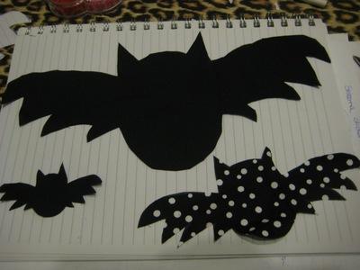 How to paint a t-shirt. Bats T Shirt - Step 4