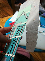 How to make a bookmark. Diy Paintchip Bookmarks - Step 7