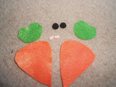 How to sew a vegetable plushie. Carrot Plushie - Step 2