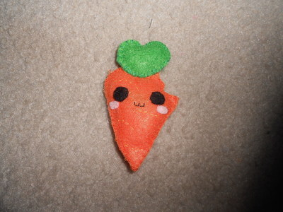 How to sew a vegetable plushie. Carrot Plushie - Step 7
