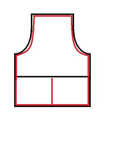 How to make a full apron. Big Daddy Apron - Step 5