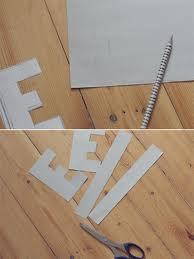 How to make a paper necklace. Letter Pendant From Cardboard (Easy And Affordable) - Step 2