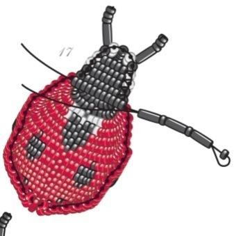 How to make a beaded animal. Seven Spotted Ladybug - Step 17