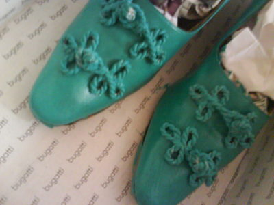 How to make a pair of embellished shoes. Refashioning Your Shoes - Step 19