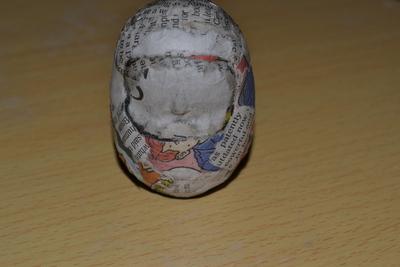 How to make a doll accessory. Mini Daruma - Step 6