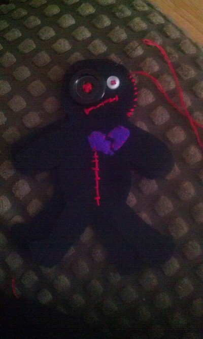 How to make a Doctor Who plushie. Voodoo Doll Pin Cushion - Step 6