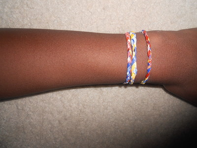 How to make a recycled bracelet. Recycled Bag Bracelets - Step 5