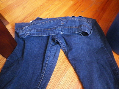 How to make jeans. Acid Washed Denim - Step 3