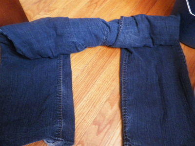 How to make jeans. Acid Washed Denim - Step 4