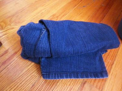 How to make jeans. Acid Washed Denim - Step 5