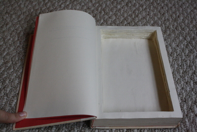 How to make a book box. Hollow Book - Step 11
