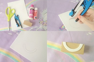 How to decorate a stamped dress. Stamped Scalloped Dress - Step 1