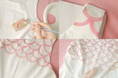 How to decorate a stamped dress. Stamped Scalloped Dress - Step 2