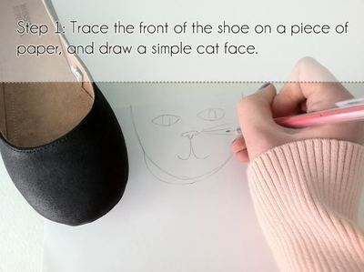How to make a shoe. Cat Shoes - Step 1