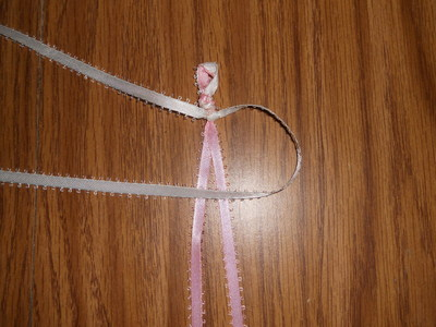 How to make a braided ribbon bracelet. Ribbon Bracelet - Step 8