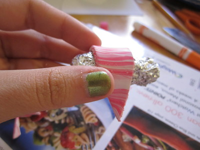 How to make a clay ring. Marbled Polymer Clay Ring - Step 28