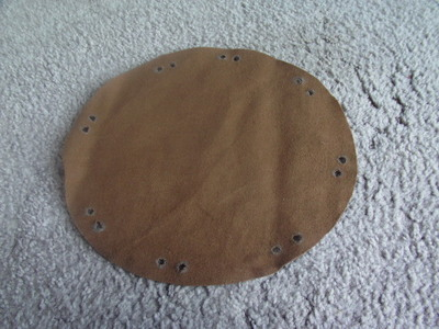 How to make a drawstring pouch. Pirate Coin Bag - Step 2