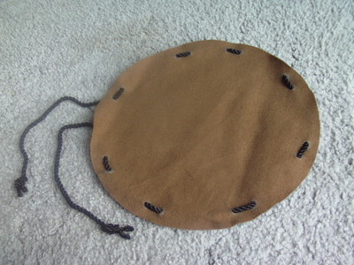 How to make a drawstring pouch. Pirate Coin Bag - Step 3