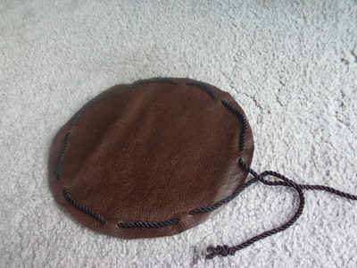 How to make a drawstring pouch. Pirate Coin Bag - Step 4
