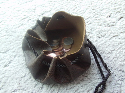 How to make a drawstring pouch. Pirate Coin Bag - Step 5