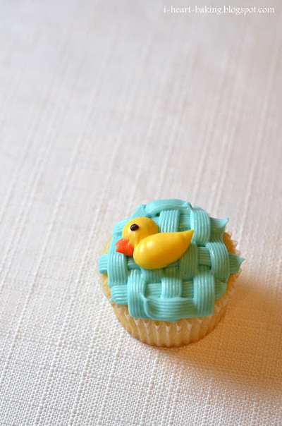 How to decorate an animal cake. Duckie Baby Shower Cake - Step 10