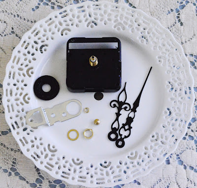 How to make a recycled clock. Make A Doily Plate Clock - Step 1