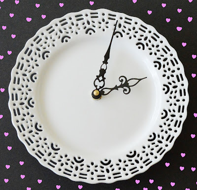 How to make a recycled clock. Make A Doily Plate Clock - Step 2