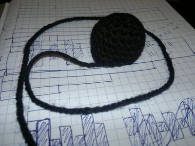 How to stitch a knit or crochet keyring. Batman Bat Keyring - Step 4