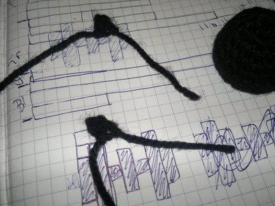 How to stitch a knit or crochet keyring. Batman Bat Keyring - Step 7