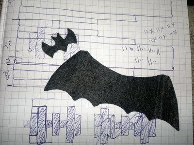 How to stitch a knit or crochet keyring. Batman Bat Keyring - Step 9