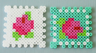 How to bead a beaded heart. Playing With Perler Beads - Step 2