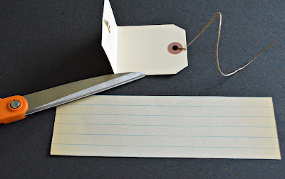 How to make a recycled book. Hang Tag Notebooks - Step 7