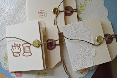 How to make a recycled book. Hang Tag Notebooks - Step 12