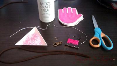 How to braid a braided bead bracelet. Stacky Bracelets For School - Step 1