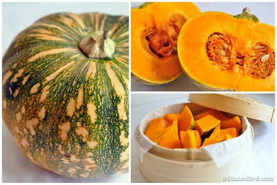 How to make a sweet sauce. Pumpkin Puree - Step 1