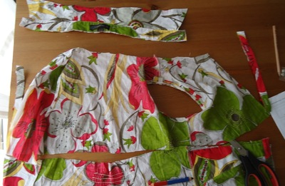 How to recycle a shirt into a dress. Beach Dress From Shirt Dress - Step 1
